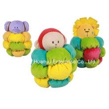 Fábrica de suministros rellenos de peluche bebé Rattle Toy