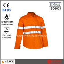 Fr segurança reflexivo camisa resistente ao fogo