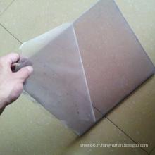 Feuille rigide de PVC transparent d'épaisseur de 3mm