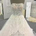 China Wedding Dress 2018 Luxury Sleeveless Lace Appliques Ball Gown Patterns Noiva Vestidos
