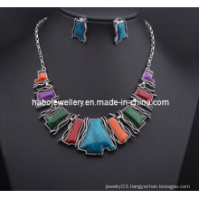 Square Stone Jewelry Set/Fashion Necklace Set (XJW13210)