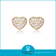 Lindo coração em forma de jóias de prata de ouro conjunto (sh-j0156)