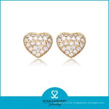 Joyería de plata de oro en forma de corazón hermosa conjunto (sh-j0156)