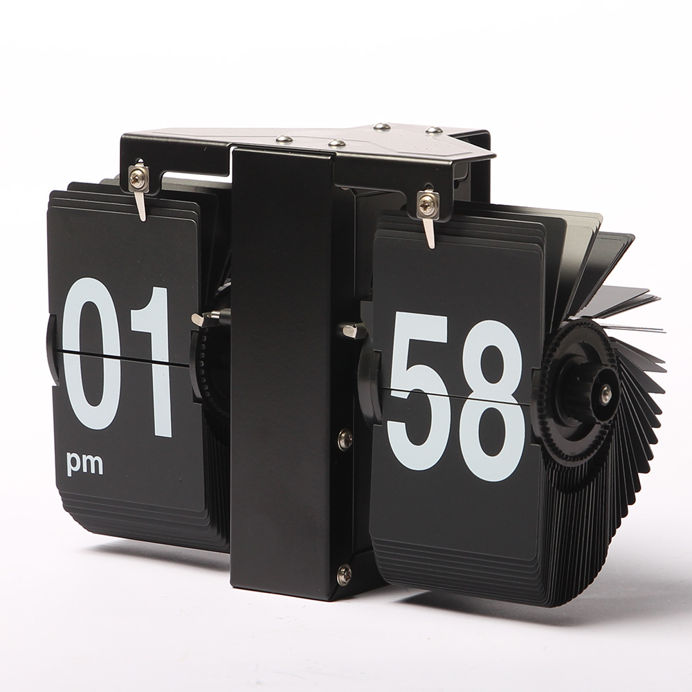 Mini Black Flip Clock for Wall Decor