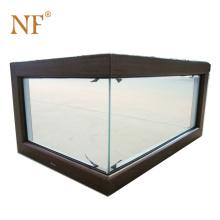 corner butt joint glass window