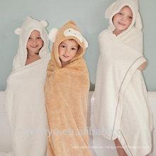 PremiumTowels Quickly Dry Diseño de cara de animal super esponjoso Juego de baño Ropa de baño de bebé y niña Baby