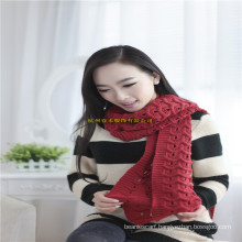 2016 New Fashion Winter Computer Jacquard Flat Knitted 100% Acrylic Scarf in Free Sample