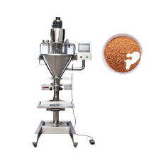 Semi Automatic Powder filling packing machine for Protein Milk Cocoa Matcha Coffee powder cans bottles premade bags for shop