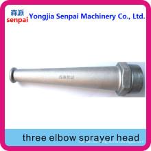 Aleación de aluminio tres cabeza de rociador de codo / cabeza de tres rociadores de codo