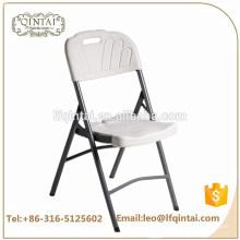 Chaise pliante en HDPE blanche avec meubles en fer blanc pour mariage