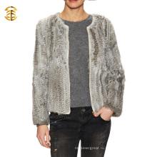 Зимняя мода оптом Real Rabbit Fur Women Jacket с застежкой-молнией