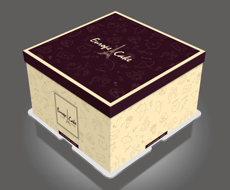 wedding cake box design