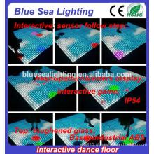 Disco dmx exterior removível fazer pista de dança iluminada
