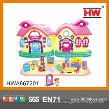 Belleza de las niñas de juguete de la casa Casa de estilo pequeño de juguete