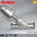 Vanne de siège de bride sanitaire y type valve de commande pneumatique