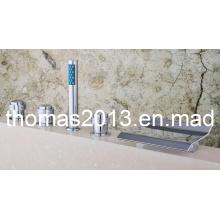 Luxury 5PCS Deck Mounted Waterfall Bathtub Faucet/Tap Qh001-15