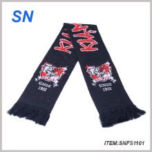 Bufanda tejida 100% del acrílico de la bufanda del fútbol de la bufanda del equipo del telar jacquar