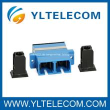 Singlemode SC zu SC Fiber Optic Adapter für Datenkommunikationsnetze