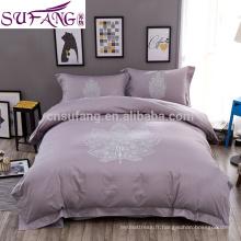 2017 Amazon Hot Sale Four Season Jacquard Luxury Shiny Bedding Set italian bedroom set