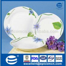 18pcs Bone china kitchen China tableware with purple flower
