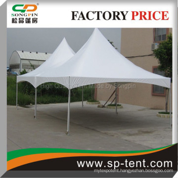 Economical open side double peaks tension tent 6x12m for sale