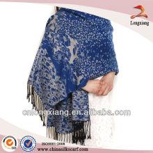 Jacquard Womens Fashion Cashmere xale de pele de mink