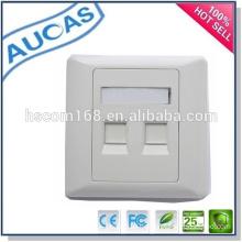 dual port fiber optic face plate / SC ST face plate / dual face plate