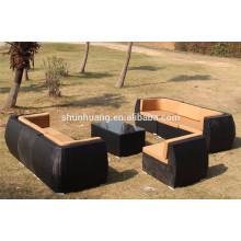 hot sale garden wicker furniture patio PE rattan sofa sets