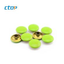 guangzhou factory double cap rivet custom metal button for bag