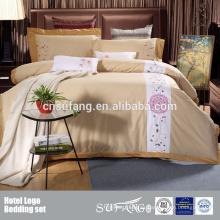 100% algodón Hotel EMB Logo Juego de cama