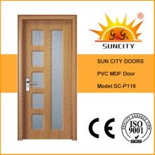 МДФ ПВХ межкомнатные двери дизайна (СК-Р116)