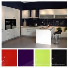 Высокоглянцевые наборы кухонной мебели UV, модульный кухонный шкаф