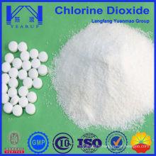 Produits chimiques d'eau de lavage de légumes avec des comprimés de dioxyde de chlore