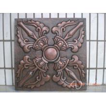 China-Lieferant Innen Hause dekorative Relief Bronze Blume Metall Wand Kunst Skulptur