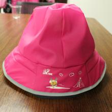 Rosy rojo de dibujos animados PU sombrero de lluvia / Rain Cap / Raincoat para los niños