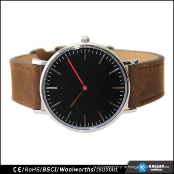 Mad Cow Leather 316L Stainless Steel Watch, Japão Movt Watch Preços Mens Relógios de pulso