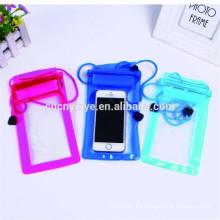 las clases de color bolso impermeable del pvc para el teléfono móvil