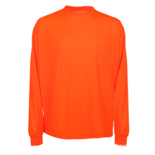 Orange Cheap Safety Reflective Long Sleeve Polo T Shirt