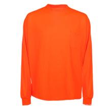 Оранжевая дешевая светоотражающая рубашка с длинным рукавом