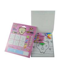 con juegos de libro de colorear de magia de pluma de color de agua