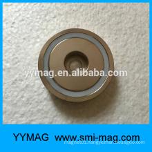 Round base neodymium pot magnets