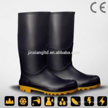 JX-992BLK PVC safety rain boots