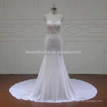 XF16080 top de renda perfeita lindos vestidos de casamento de sereia chiffon de sereia