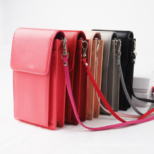 Genuine Leather Small Purse Wallet Crossbody Mobile Phone Bag For Women