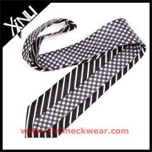 Gravata reversível de seda para homens moda gravata