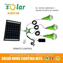 Lanterna Solar de LED com bateria recarregável e porta USB para carregador móvel