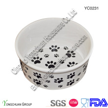 Ceramic Big Pet Bowl para Atacado