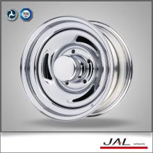 Diseño popular rueda de remolque de cromo barato borde de rueda de coche con 3 cuchillas