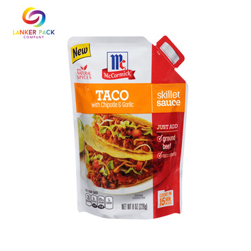 Laminated Aluminum Sauce Packaging Bag With Lear Tear