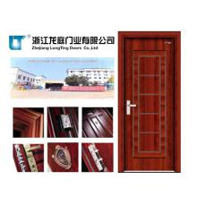 Puerta de acero interior de madera (LTG-114)